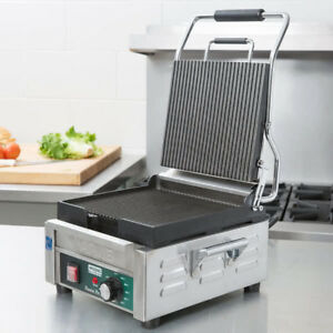Waring Wpg150t Ribbed Sandwich Panini Grill