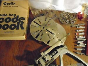 Vintage Curtis No 14 Locksmith Key Cutter And Code Books