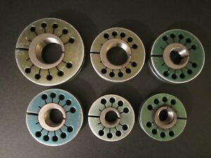 Lot Of 6 Thread Ring Gage Go No Inspection Tool Gauge Doall Southern Steampunk