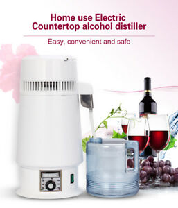 Dental Lab 4 Litre Home Pure Water Alcohol Distiller Water Filter Machine New