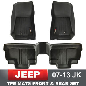 Floor Mats Liners Front Rear Fits 2007 2013 Jeep Wrangler Jk Unlimited 4 Door
