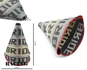 Bride Gradation Hyper Fabric Racing Shift Knob Shift Boot Cover Mt At Red Stitch