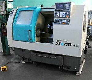 Clausing colchester 2 axis 60 Degree Slant Bed Cnc Lathe Cnc200 Storm