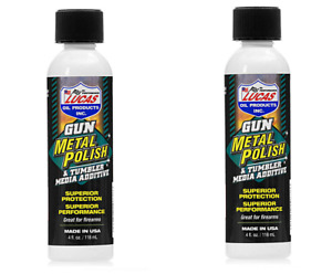 *2 PACK* Lucas Oil Gun Metal Polish & Tumbler Media Additive 4oz. (8oz. Total) $15.99
