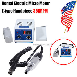 Dental Lab Marathon Handpiece 35krpm Electric Micromotor And 10pcs Drill Usps