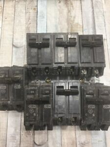 Lot General Electric Type Thqb 30a 20a 100a Rt 690 Circuit Breakers 2p 120 240v