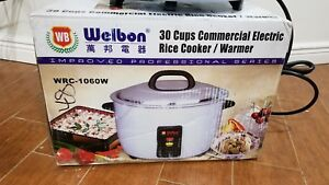Brand New Welbon 30 Cups Commercial Electric Rice Cooker warmer Wrc 1060w