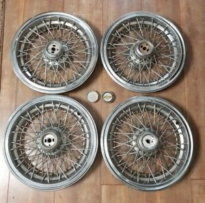 1986 96 Set Of 4 Chevy Caprice Rwd Wire Spoked Hubcap Wheel Covers 15inch