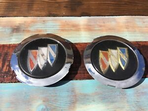 Lot Of 2 Buick Regal Skylark Gs Rally Wheel Center Cap Rare