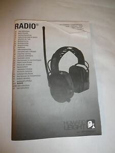 Howard Leight By Sperian Radio 1010375 Electronic Am fm Radio Earmuff open