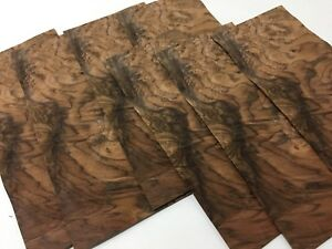 Exotic Wood Walnut Burl Veneer Sequenced Matched 7 Pc Pack 5 5 W X 12 L