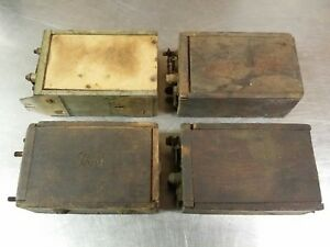 4 Antique Ford Model T Wooden Ignition Coil Magnetos One K w One For Parts