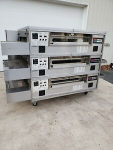 2012 Middleby Marshall Ps570g Triple Deck Conveyor Pizza Oven belt Width 32