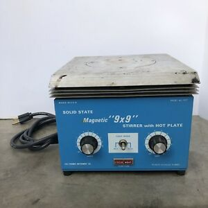 Cole Parmer Magnetic 9 X 9 Stirrer With Hot Plate Model 4817