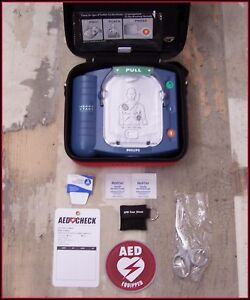 Philips Onsite Just Installed Battery 2020 Pads Aed Defib M5066a Heartstart