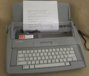 Brother Sx 4000 Portable Electronic Typewriter Lcd Display W Cover dictionary
