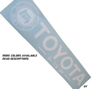 Compatible With Toyota Windshield Decal Sticker Banner Window Graphics