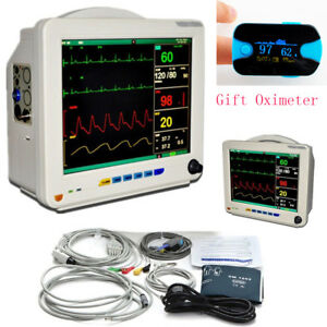 12 1 Inch Medical Icu Ccu 6 Parameters Vital Sign Patient Monitor Nibp Spo2 Gift