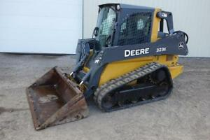 2014 John Deere 323e Skid Steer Loader Erops Heat ac 2 Speed 1457 Hrs 54hp