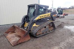 2010 New Holland C185 Skid Steer Loader Erops Heat ac 78 Hp 2 Spd 1639 Hrs