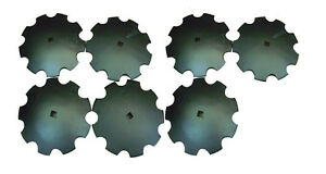 Notched Disc Lot Of 7 16 1 Or 1 1 8 Square Shaft Cutting Blade