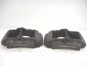 04 05 06 Porsche Cayenne 955 Front Left Right Brake Calipers Caliper Pair Oem