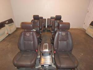 Cadillac Escalade Esv Front 2nd 3rd Rear Seat Brown Leather Power Platinum 10 11