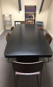 Black Conference break Room Table For Sale W 6 Wooden Chairs 499 Obo