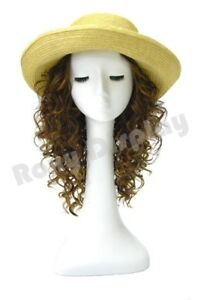 Female Mannequin Head Long necked Bust Wig Hat Jewelry Display mz no 51