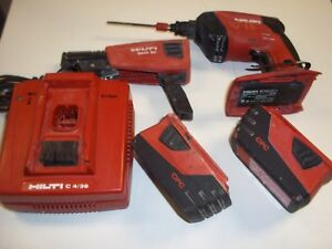 Hilti Sd4500 a18 Cordless Drywall Driver Screwdriver Smd50 2 batteries Charger