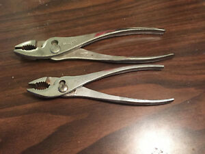2 Pc Proto Professional Tools No 280 278 Slip Joint Pliers 10 8 Usa