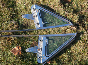 1961 1963 Thunderbird T bird Vent Wing Window Frame Pair Glass Sunx Fomoco