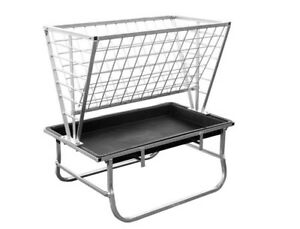 Bunk Feeder For Goats Sheep Includes Hay Rack Galvanized Steel Poly Tub