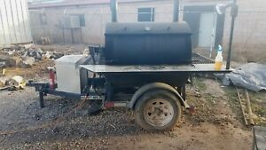 Commercial Bbq Rotisserie Smoker On A Trailer