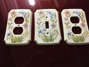 Vintage Wildflower Design Switch And Outlet Cover Set