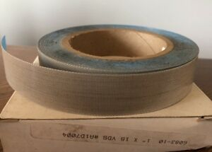 Ptfe Coated Fiberglass Cloth Tape Brown 1 X 18 Yd 10 Mil Adhesive 1 Roll