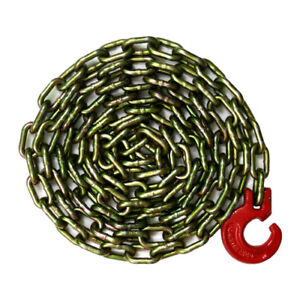 G70 Logging Chain Choker Chain 10 Feet With Choker Hook 3 8 Grade 70 26000 Lbs