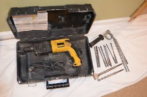 Dewalt Dw566 7 8 Sds Rotary Hammer Steel Drilling 1 2 With 12 Bits Hard Case