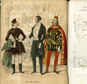 1843 Sewing Patterns A Complete Year With Many Complete Costumes Men