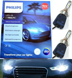 Philips Ultinon Led Kit 6000k White 9005 Hb3 Two Bulbs Light Drl Daytime Lamp Oe