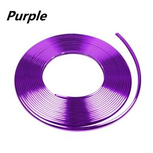 26ft Purple Car Wheel Hub Rim Trim Protector Tire Guard Sticker Strip Universal