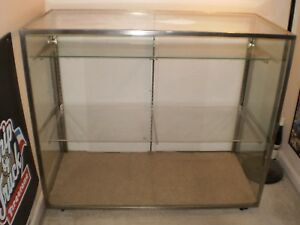 Display Case On Casters Wood Glass And Plexiglas Construction
