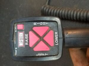 Western Fisher 6 Pin Snow Plow Controller Hand Held Joystick Control Free Ship