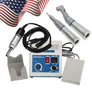 Dental Lab Marathon Micro Motor 35k Rpm N3 Straight Handpiece Contra Angle Yph
