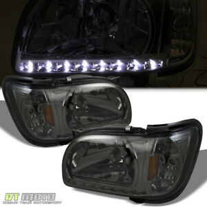 For 2001 04 Toyota Tacoma Pickup Led Drl Smoked Headlights W Corner Signal Lamp