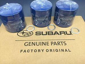 Oem Factory Subaru Engine Oil Filter Crush Gasket 3 Pack 15208aa12a Genuine