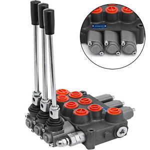 3 Spool Hydraulic Control Valve Mb31bbb5c1 8 Gpm Log Splitters 3500 Psi Motors