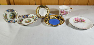 Vintage Lot Cup And Saucers Bone China Porcelain Grimware Dragon Foley Broadway