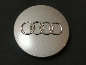 Audi A4 A5 B8 Oem Wheel Center Cap Gray Finish Chrome Rings 8t0 601 170