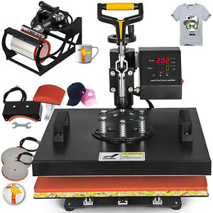 15x15 5in1 T shirt Heat Press Machine Transfer Printing Sublimation Cap